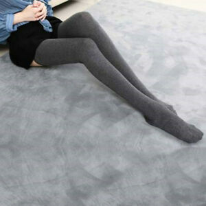 Thigh-High-Leg-Warmer-Women-039-s-Over-The-Knee-Solid-Socks-Soft-Cotton-Stocking