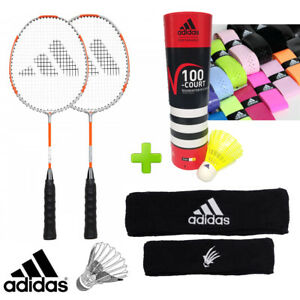 bcf72480e2 Image is loading adidas-Badminton-Junior-P50-Racket-Training-Set-w-