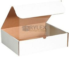 50 - 9x2x2 White Box Corrugated Mailers Cardboard Packing Mailing Moving Ship