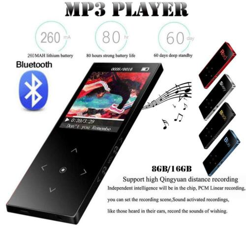 BENJIE Portable Bluetooth MP3 Music Player with FM Lossless Support up to 8//16GB
