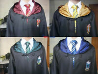 Harry Potter Adult Kid Robe Cloak Cape Gryffindor/Hufflepuff/Slytherin/Ravenclaw