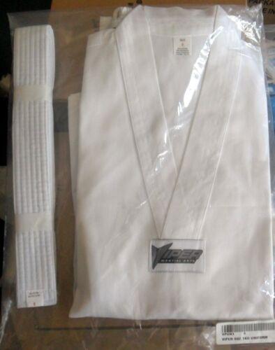 TaeKwonDo TKD Uniform Size 0 Top Pants Belt NEW! NIP Viper Martial Arts 6oz