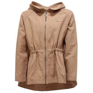 reputable site 276f0 84960 Details about 8709T giacca girl parka TWIN-SET SIMONA BARBIERI cotton/linen  bimba beige jacket