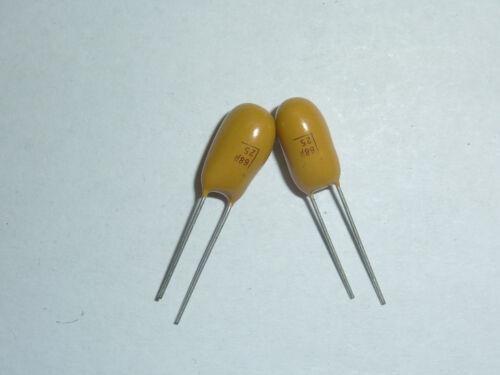 5Pcs Tantalum Capacitor DIP 25V68UF 68UF 25V 686 Radial