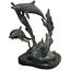 Indexbild 1 - Nautisch Fein Klein Art Déco Stil Bronze 3 Delphine Skulptur Gratis Stehend