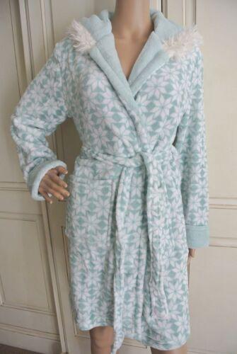 Size Ivory Soft Super Ladies Gown Snowflake Dressing Bnwt 14 6 Green Mint XwzBtF