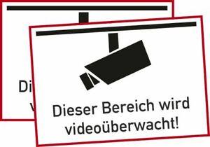 Details Zu 2x Video überwachung Bereich Wird Videoüberwacht Aufkleber Schild Zeichen
