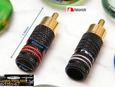 1 PAIR RCA NAKAMICHI GOLD 24 K FOR CHANGE ON YOUR TURNTABLE