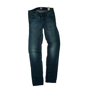 Pantalones Jeans Para Mujer Calce Ajustado De 29 34 W29 L34 Azul Usado Top S18 Ebay