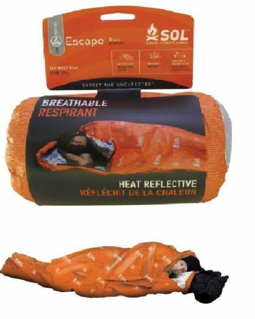 SOL ESCAPE Bivvy Breathable New Adventure Medical Kits AMK Bivy Camping BOB
