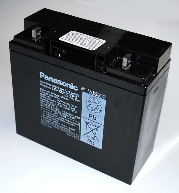 2 x Panasonic Blei Gel-Akku 12V 17Ah LC-XD1217PG LC-RD1217P