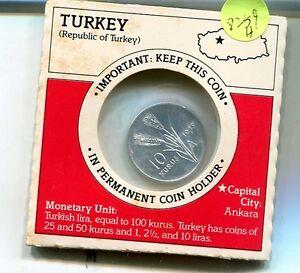 TURKEY-1975-10-KURUS-COIN-CH-BU-8259H