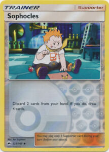 Sun /& Moon: Burning Shadows Pokemon: Sophocles 123//147 Reverse Holo