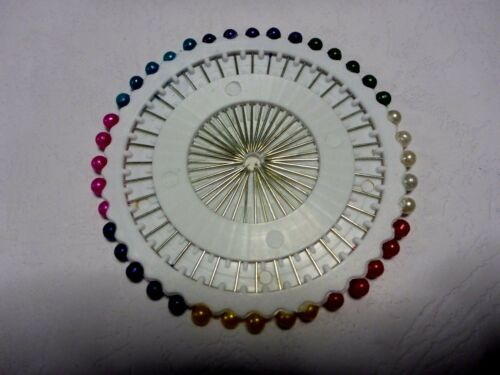 40 BERRY HEADED SEWING QUILTING DRESSMAKING PINS PINWHEEL 37 mm HIJAB SCARF WRAP