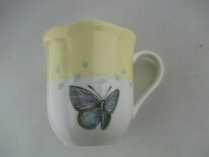 Lenox Butterfly Meadow Yellow and Blue, Coffee/Tea Mug Cup, China