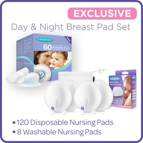 Lansinoh Breast Pads Day /& Night Nursing Breastfeeding Bulk Pack Baby Shower 128