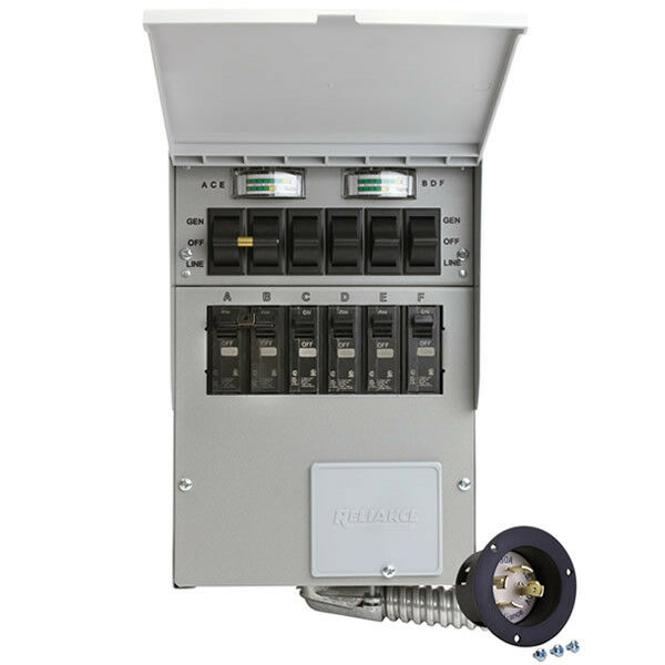 Reliance Controls Corporation 31406CRK 30 Amp 6-circuit Pro//Tran Transfer Switch