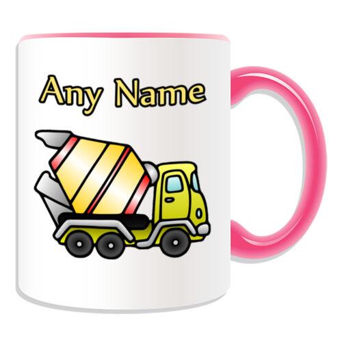 Cadeau personnalisé béton Mug camion de transport argent boîte bétonnière cup