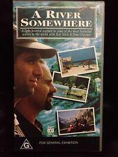 A RIVER SOMEWHERE ~ ROB SITCH & TOM GLEISNER ~ 2 x AS NEW VHS VIDEOS ~ FISHING