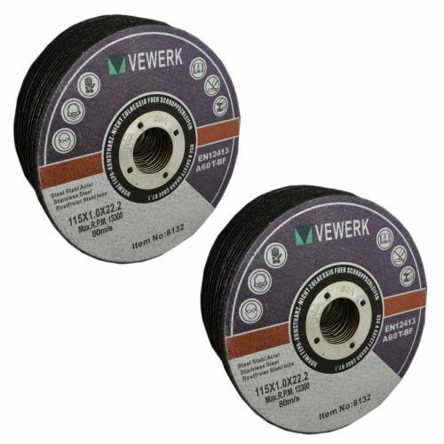 """Disques de coupe acier mince de métal pour 4-1//2/"""" 115mm meuleuse d/'Angle x 1mm"""