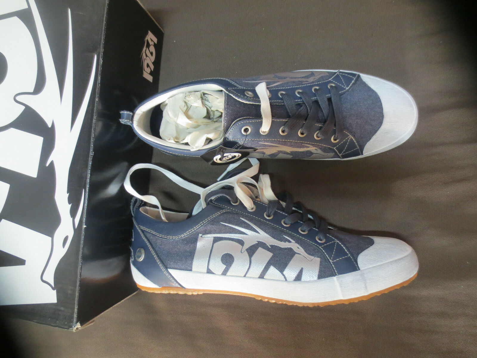 Man sneakers new value 69TH canvas+leather Navy Sizes 39,40,41,43,44
