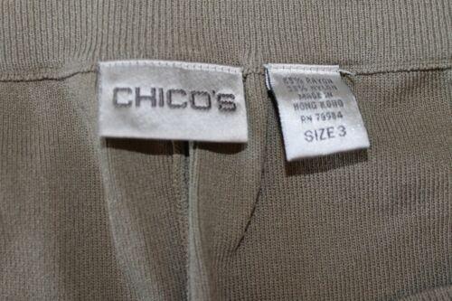 Ba34 voor 3 Womens knit pull comfortbroek on maat Chico's Reg heavy 4x6Pgp6q