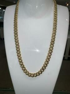 Brand New 10k Yellow Gold Diamond Cut MIAMI Cuban Link 22 inches 9 mm Canada Preview