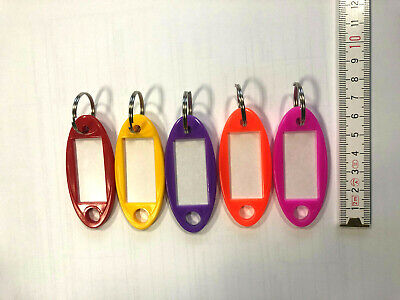 30 Schlüsselanhänger zum Beschriften Schlüsselschilder Anhänger m Etiketten Hart