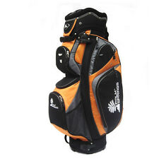 PALM SPRINGS GOLF Orange/Silver 14 Way Full Length Divider Cart Bag