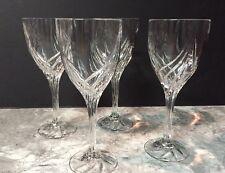 "Lenox Crystal Lot Of 4 DEBUT 8 1/4"" Water Wine Goblets Glasses"