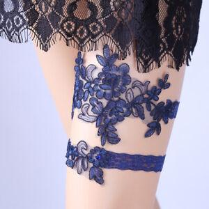 NE-GI-KF-2-Pcs-Set-Women-Wedding-Bridal-Floral-Lace-Thigh-Rings-Elastic-Leg-G