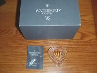 Waterford Paperweight Heart Shaped, Cut Crystal In Box