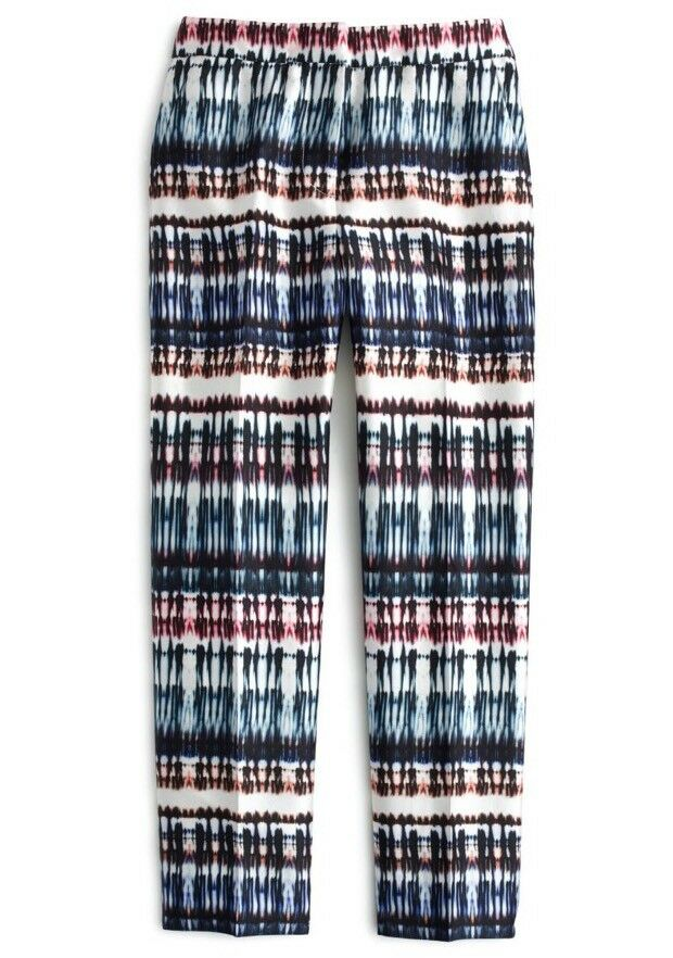 NWT J.Crew Collection patio pant in silk-wool tie-dye Size 4