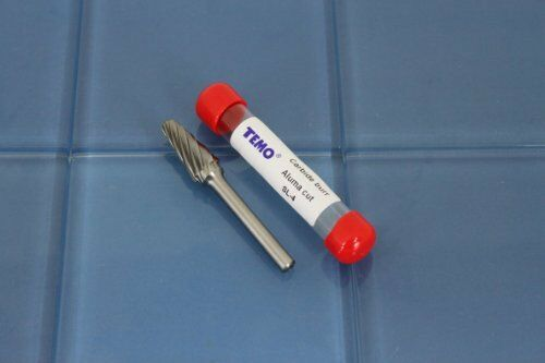 "TEMO SL-4 NF Aluminum Cut 3/"" L CARBIDE BURR FILE 1//4/"" SHANK 1//2 HEAD 14 deg Cone"