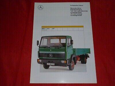 Prospekt Brochure 03.1990 Mercedes-Benz LKW Pritschenwagen 1726