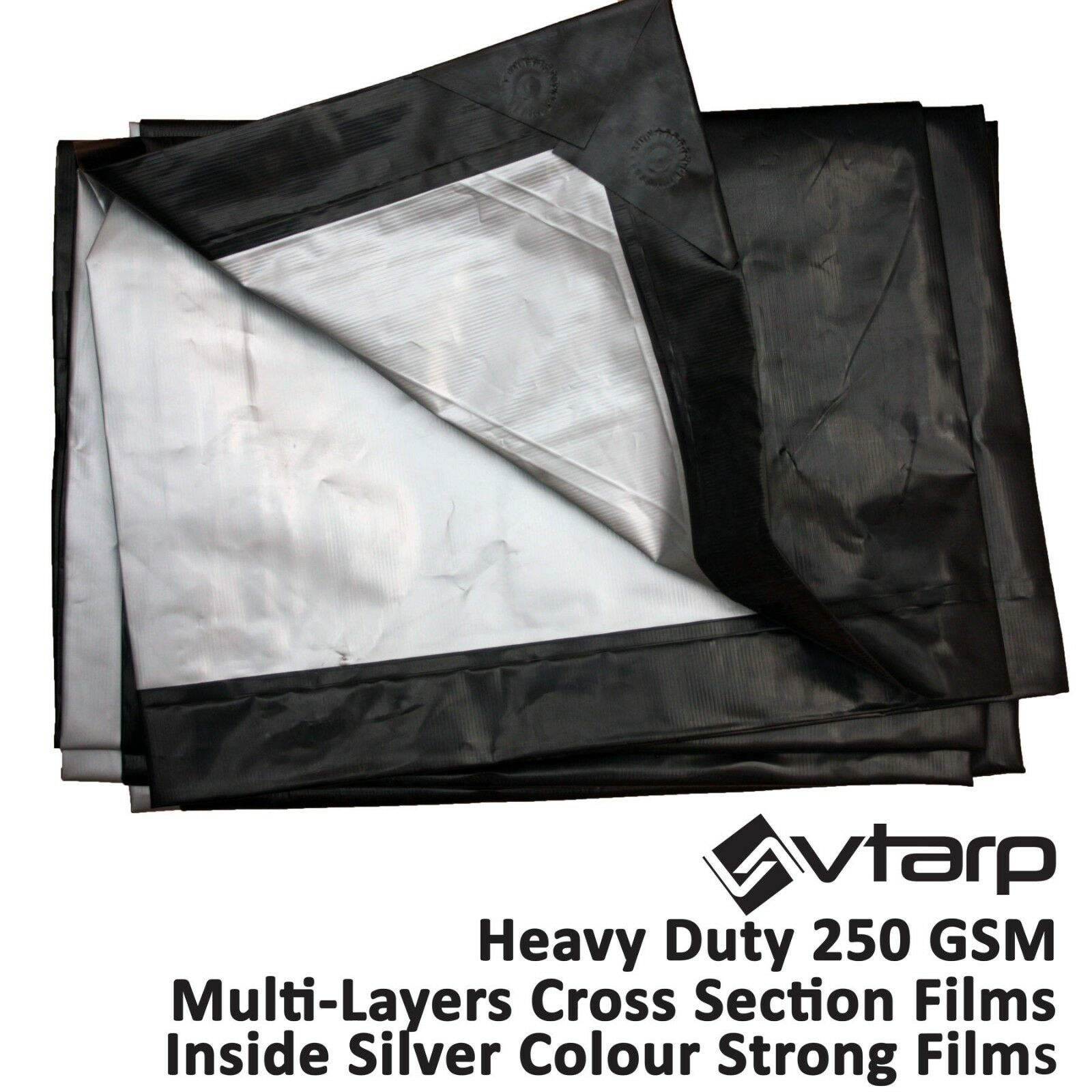 Vtarp   HEAVY DUTY TARPAULIN WATERPROOF EX STRONG COVER GROUND SHEET TARP 250GSM