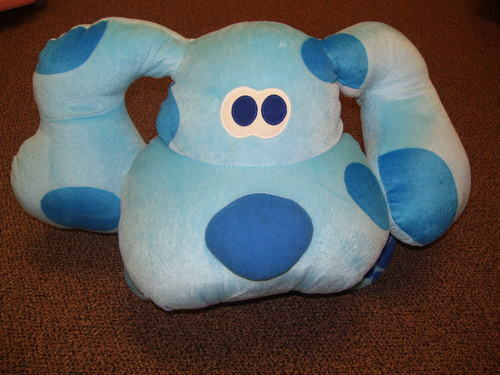 RARE ... HUGE Blau'S CLUES PLUSH DOG DOLL