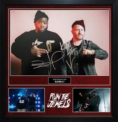 Rock & Pop Run The Jewels Killer Mike El-p Signed Photo Custom Display Aftal Uacc Rd Coa Entertainment Memorabilia