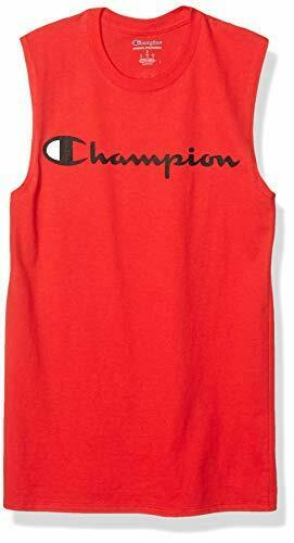 Champion Men's Graphic Jersey Muscle, Scarlet, Size Medium K4hT