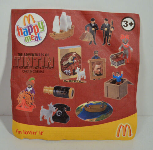 "RARE 2011 Sir Francis Haddock 4/"" de McDonald Figurine adventures of TINTIN"