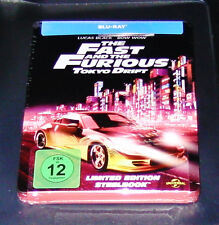 THE FAST AND THE FURIOUS 3 TOKYO DRIFT STEELBOOK EDITION BLU RAY NEU & OVP
