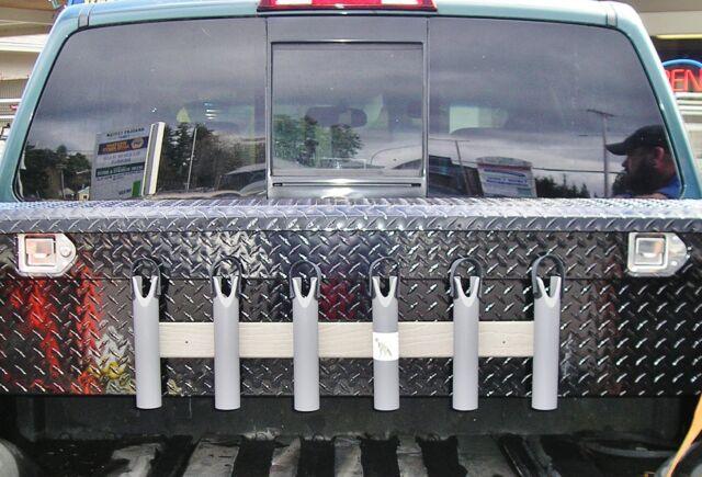 T-Rex Tough Fishing Rod Pole Rack Rest Holders//5 Rods RV Storage Boat Truck