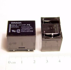 Omron G5LE-1A4-E DC24 PCB Mount Power Relay SPST 250V 10A Contacts 24VDC *New*