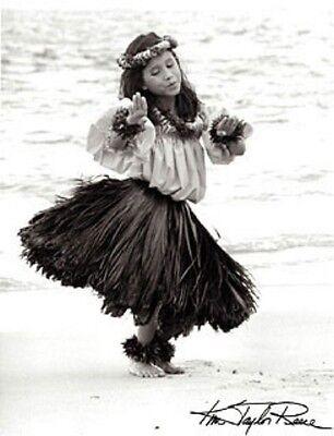 "Kim Taylor Reece ""Hulali"" 11 X 14 Double Matted Hawaiian Hula Print - New"