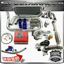 D15/D16 Turbo kits Stainless Manifold 0.63 T3/T4 Turbo intercooler+ 4 in 1 gauge