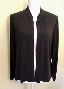 25216517 J. Jill Open Front Jacket, Size Large, Black, Stretch, Rayon Blend ...