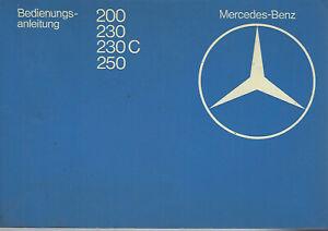 MERCEDES-E-Klasse-C123-W123-Betriebsanleitung-1979-Handbuch-200-230-230C-250-BA