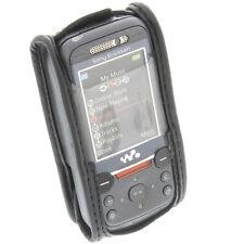 Handytasche für SonyEricsson W850i mit Sichtfenster und Gürtelclip Schwarz