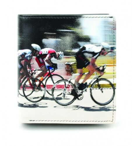 GENUINE LEATHER Mens Wallet Cyclist Road Race Golunski Retro Coin Section