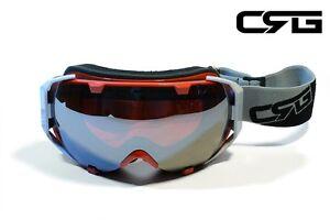 CRG Ski Snow Snowboard ANTI-FOG DOUBLE LENS TRIPLE-LAYER FOAM Goggles CRG98-1A